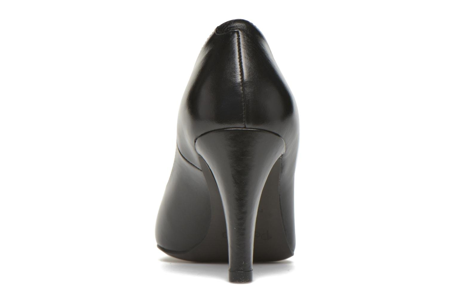 High heels Perlato Prunov Black view from the right