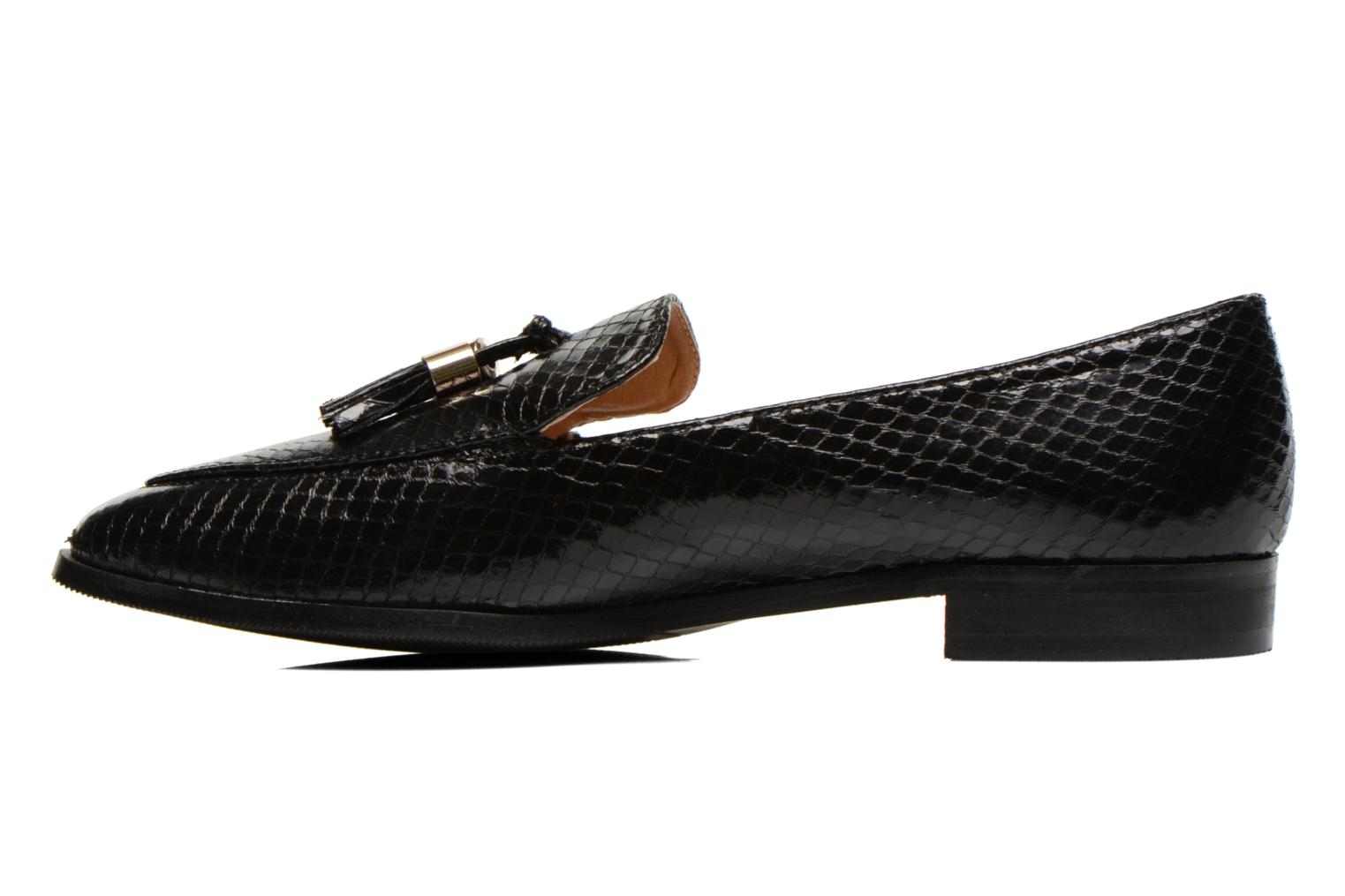 Loafers Eclipse Mocassin Paula Black front view