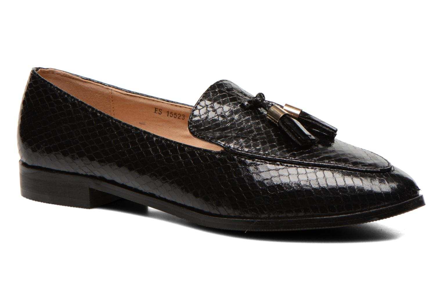 Loafers Eclipse Mocassin Paula Black detailed view/ Pair view