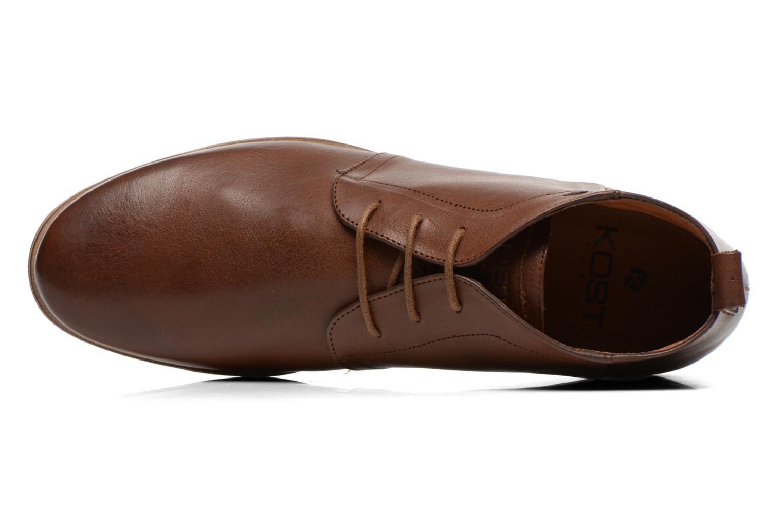 Chaussures à lacets Kost Zepee27 Marron vue gauche