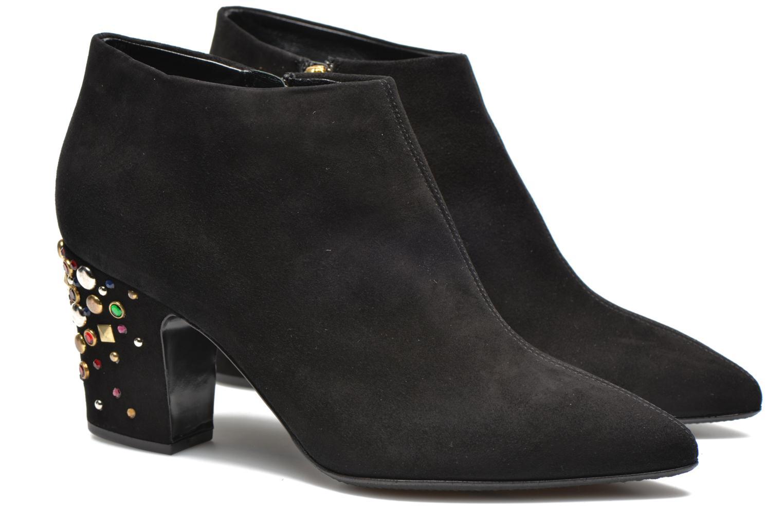 Ankle boots Vicini Bottines talon bijoux Black 3/4 view