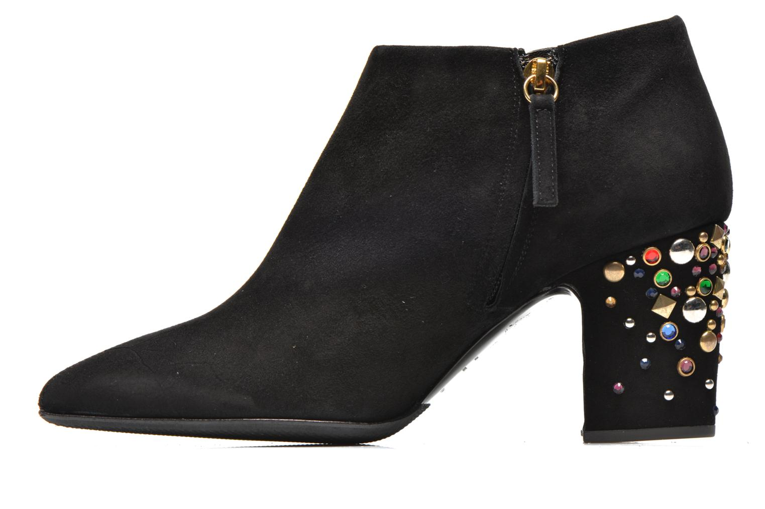 Bottines talon bijoux Noir