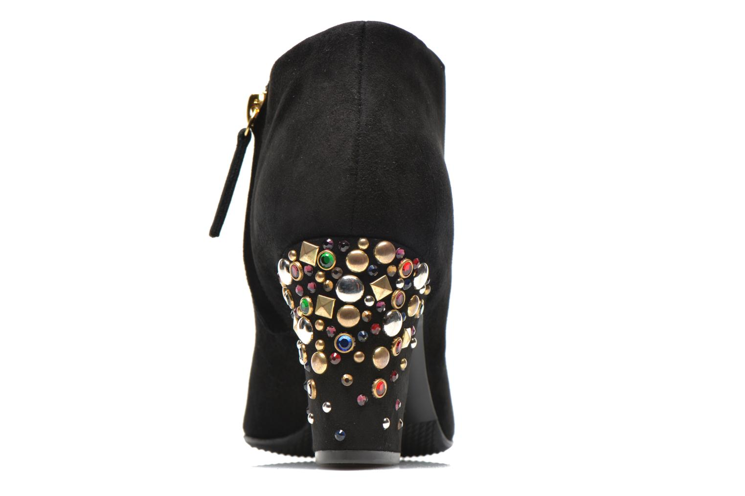 Ankle boots Vicini Bottines talon bijoux Black view from the right