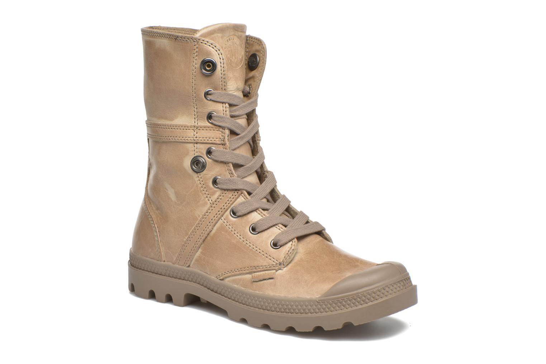Sneakers Palladium Pallabrousse Baggy L2 U W Brun 3/4 bild