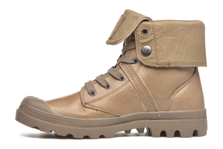 Sneaker Palladium Pallabrousse Baggy L2 U W braun ansicht von vorne
