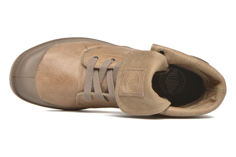 Sneakers Palladium Pallabrousse Baggy L2 U W Brun bild från vänster sidan