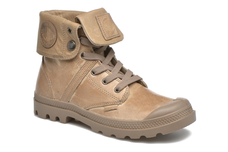 Sneakers Palladium Pallabrousse Baggy L2 U W Brun detaljerad bild på paret