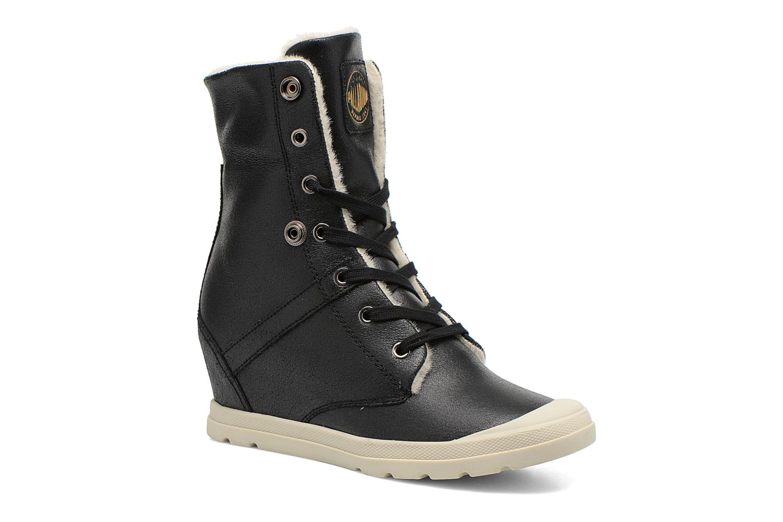 Bottines et boots Palladium Ecuador Pilot Noir vue 3/4
