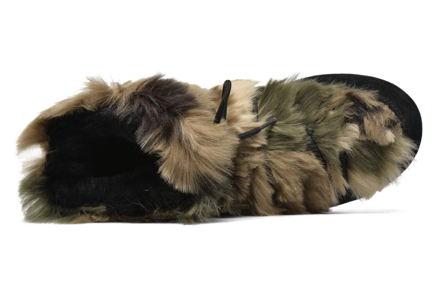 We Low Fur Black- Green Camu