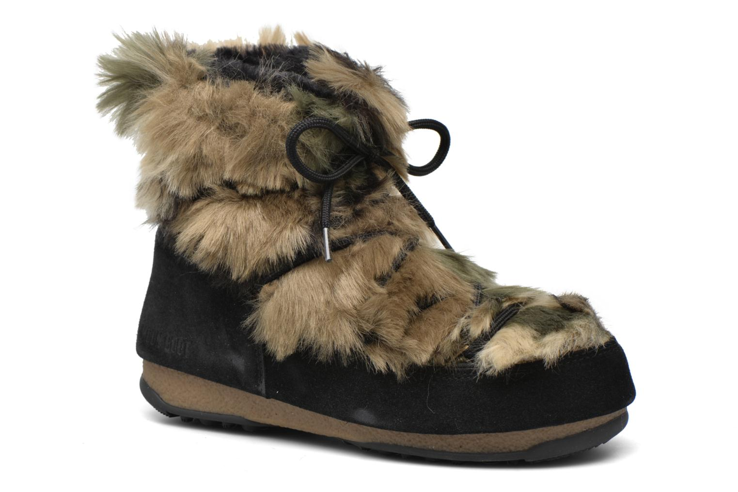 Bottines et boots Moon Boot Low Fur Noir vue détail/paire