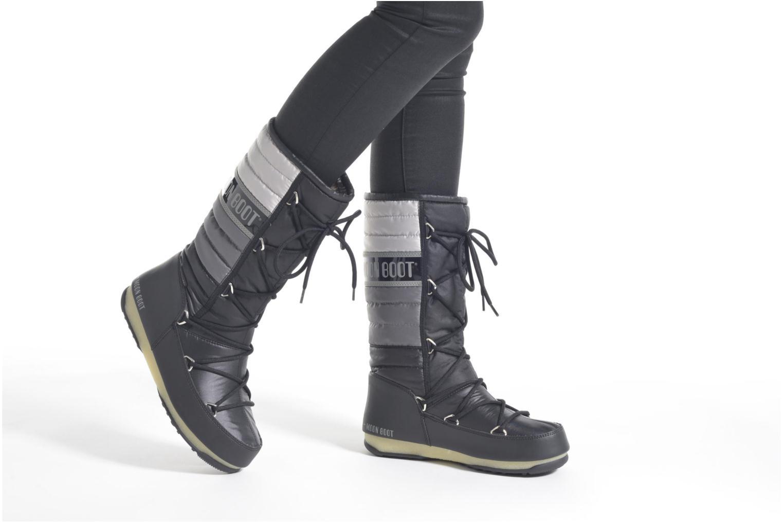 Stiefeletten & Boots Moon Boot We Quilted schwarz ansicht von unten / tasche getragen