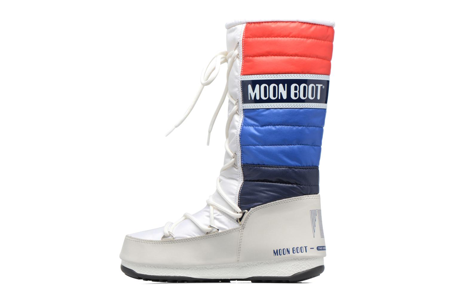 Bottines et boots Moon Boot We Quilted Blanc vue face