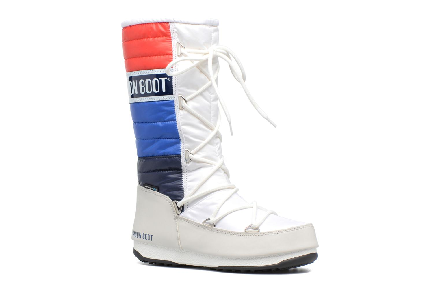 Ankle boots Moon Boot We Quilted White detailed view/ Pair view