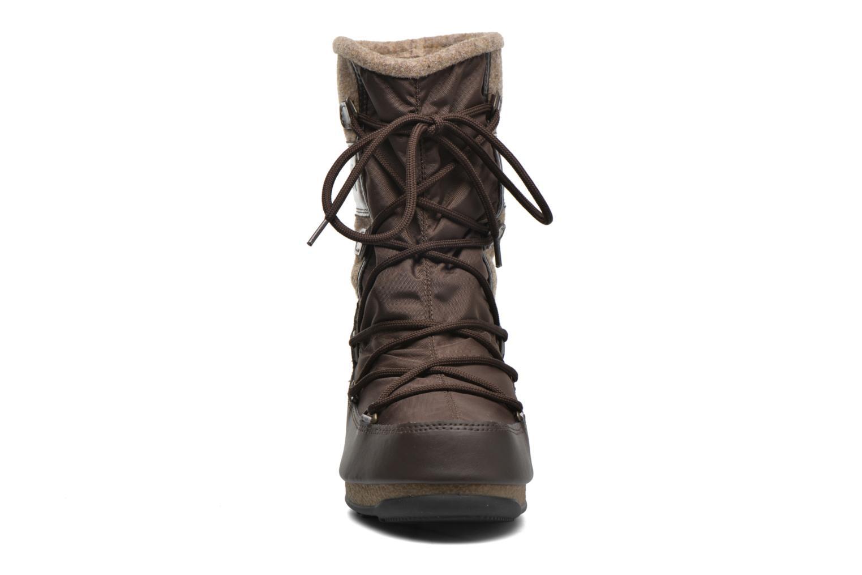 Bottines et boots Moon Boot Vienna Felt Marron vue portées chaussures