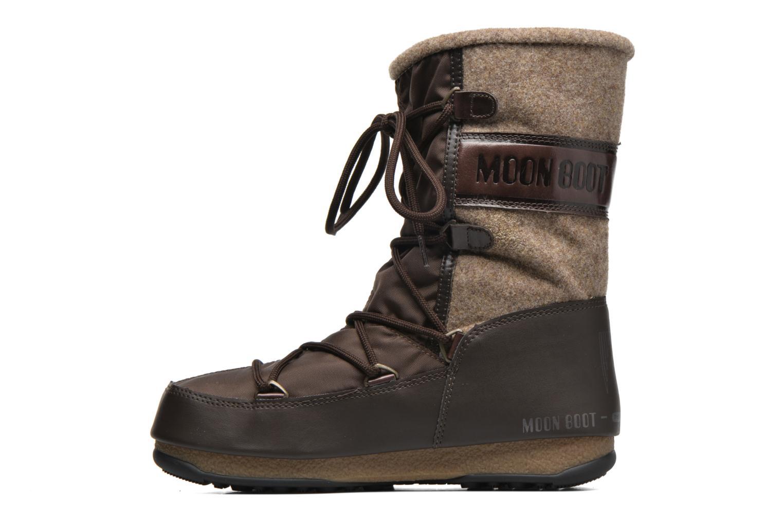 Bottines et boots Moon Boot Vienna Felt Marron vue face