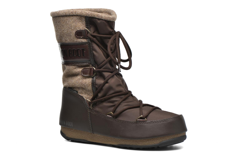 Bottines et boots Moon Boot Vienna Felt Marron vue détail/paire