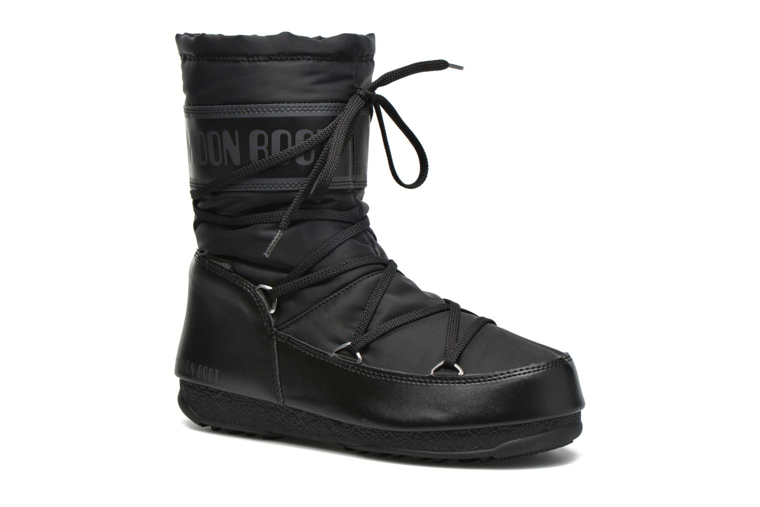 Sport shoes Moon Boot We Soft Shade Mid Black detailed view/ Pair view