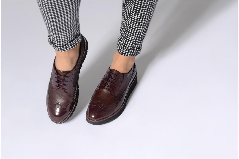 Chaussures à lacets Geox D BLENDA C D540BC Bordeaux vue bas / vue portée sac
