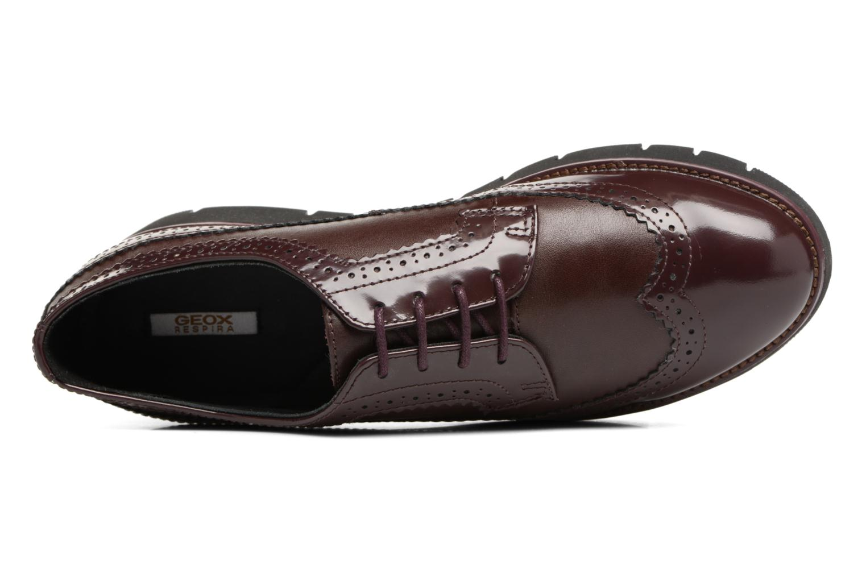 Chaussures à lacets Geox D BLENDA C D540BC Bordeaux vue gauche