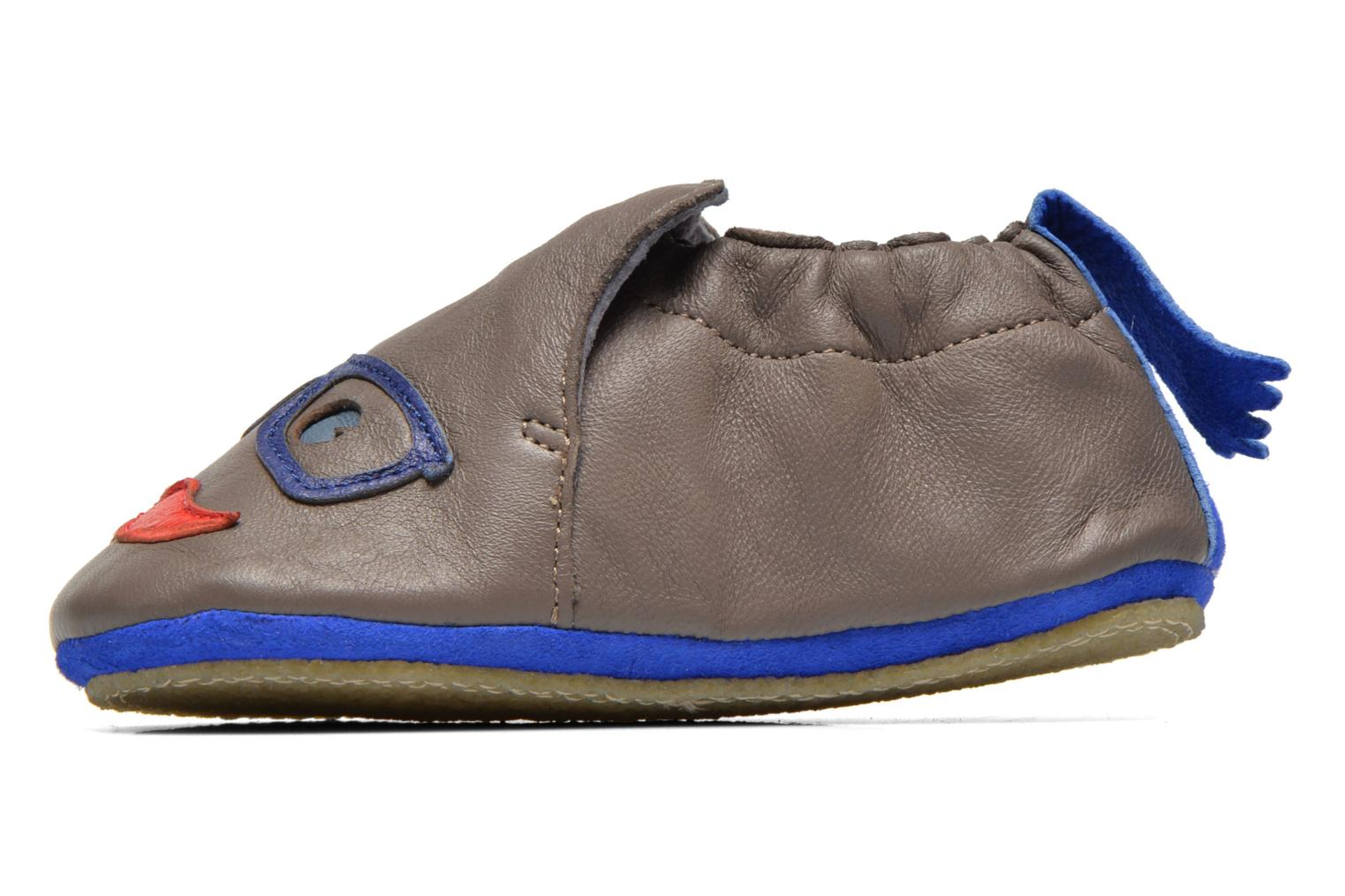 Chaussons Easy Peasy Blublu Patin Intello Gris vue face