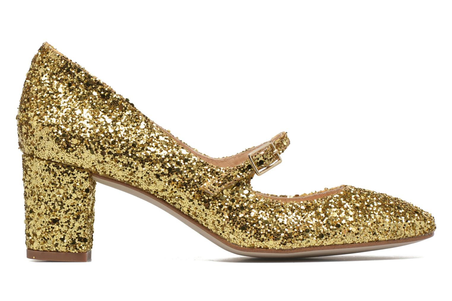 High heels Georgia Rose Tex new Bronze and Gold back view