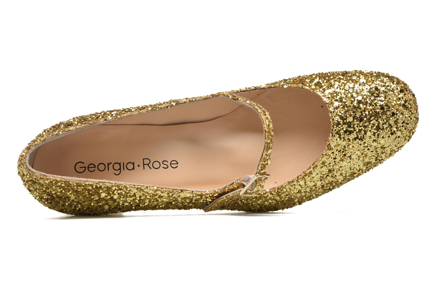 High heels Georgia Rose Tex new Bronze and Gold view from the left