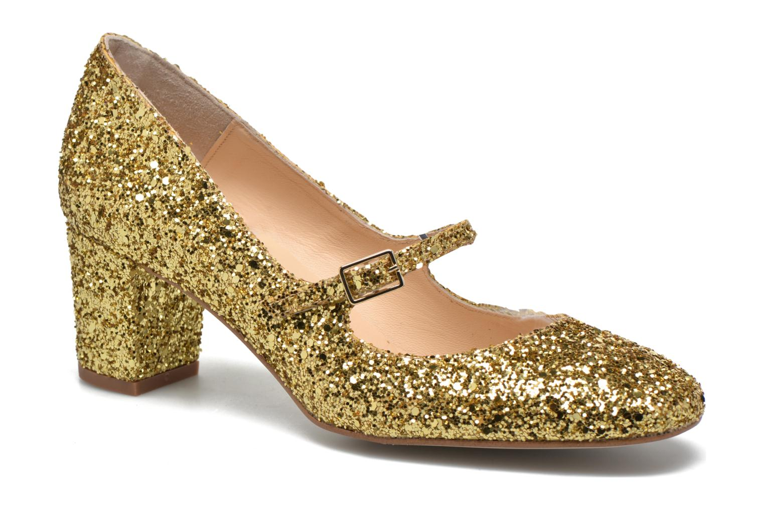 High heels Georgia Rose Tex new Bronze and Gold detailed view/ Pair view