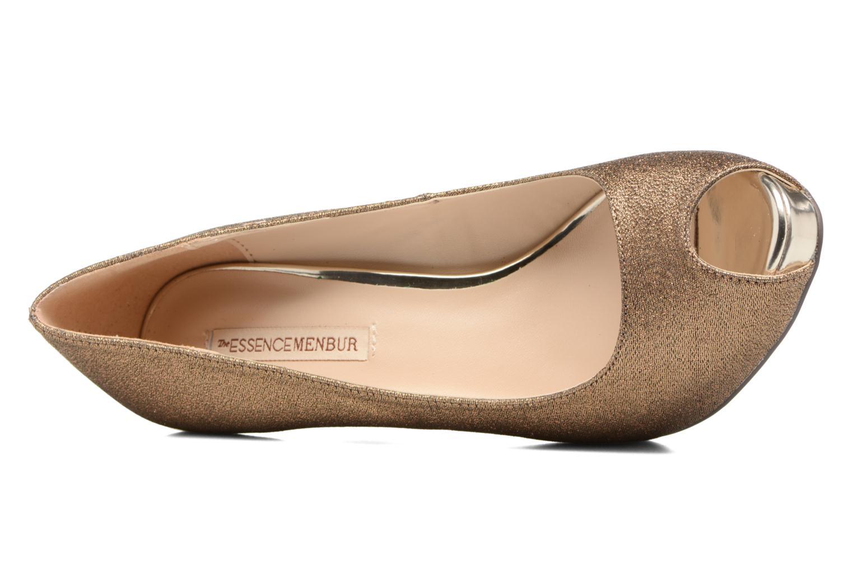 High heels Menbur Bailen Brown view from the left