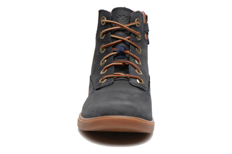 Sneakers Timberland Groveton 6In Lace with si Azzurro modello indossato