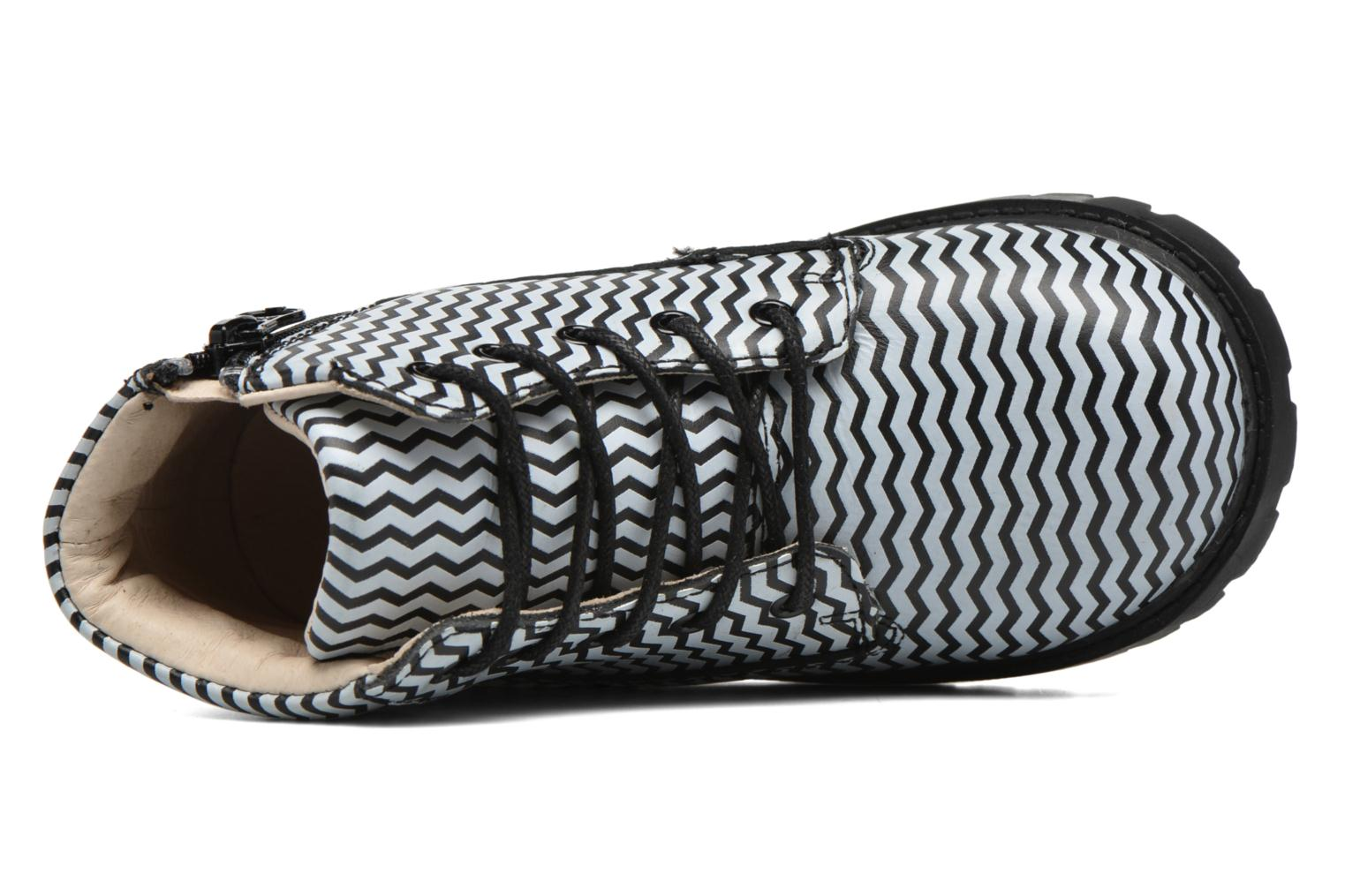 Atticus Black/White Chevron