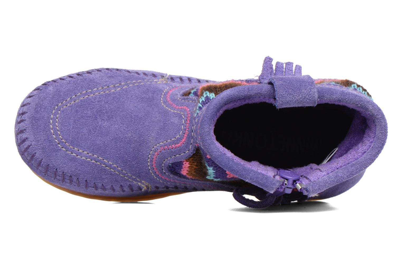 Botines  Minnetonka Aspen Boot Violeta      vista lateral izquierda