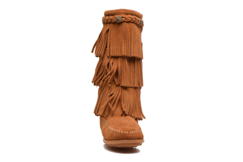 Stiefel Minnetonka 3-Layer braun schuhe getragen