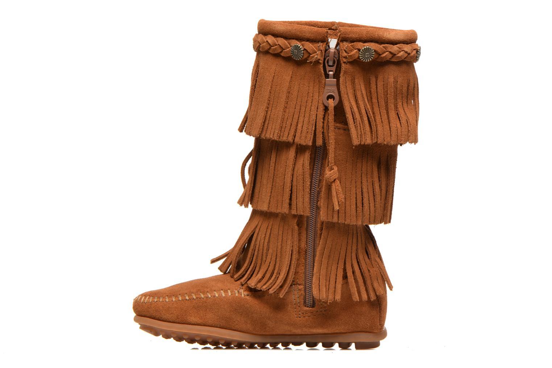 Stiefel Minnetonka 3-Layer braun ansicht von vorne