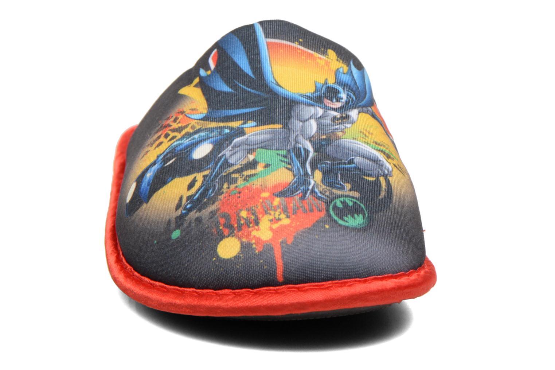 Hausschuhe Batman Bat Blent schwarz schuhe getragen