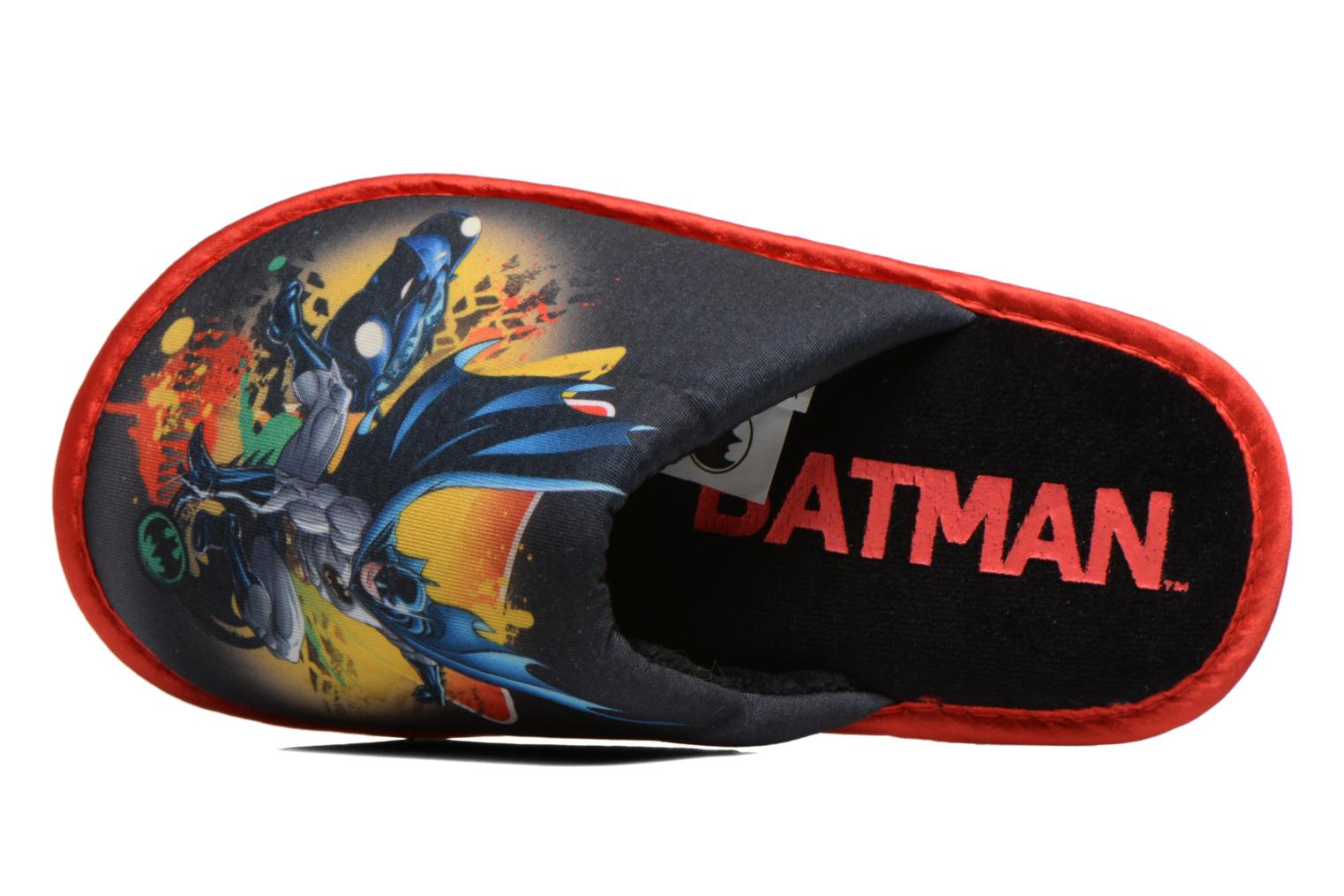 Pantuflas Batman Bat Blent Negro vista lateral izquierda