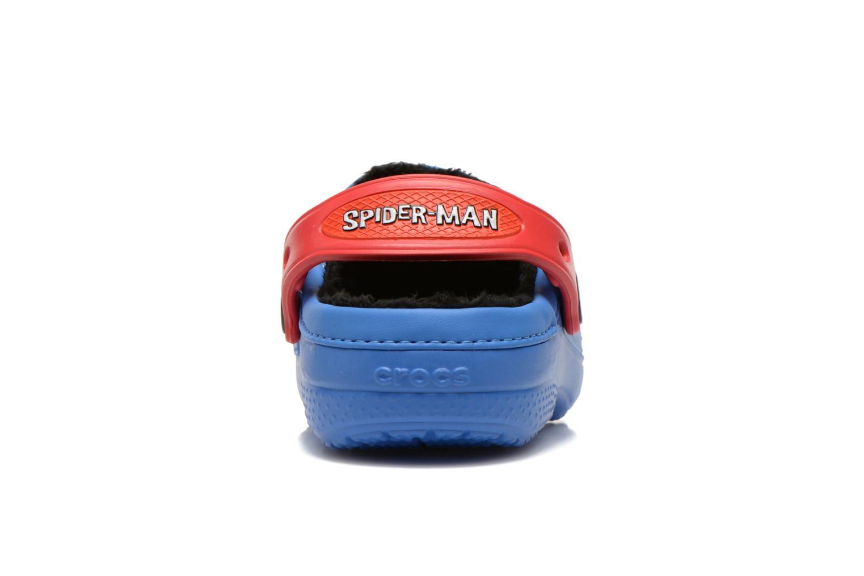 Sandales et nu-pieds Crocs CC Spiderman Lined Clog Bleu vue droite