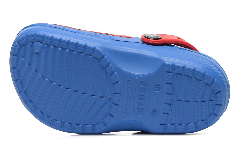 Sandales et nu-pieds Crocs CC Spiderman Lined Clog Bleu vue haut