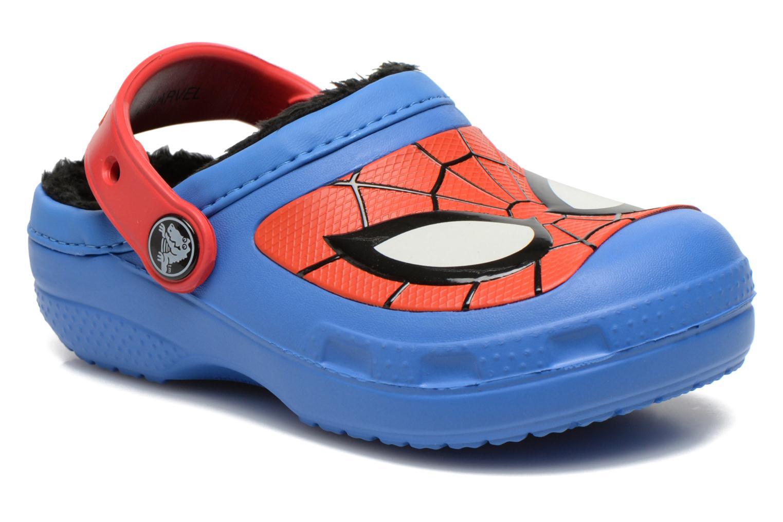 Sandaler Crocs CC Spiderman Lined Clog Blå detaljeret billede af skoene