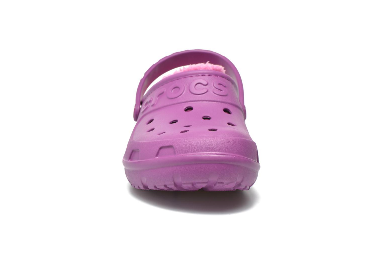 Sandales et nu-pieds Crocs Crocs Hilo Lined Clog K Violet vue portées chaussures