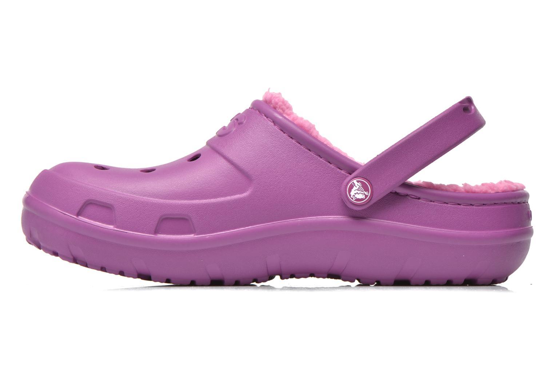 Sandales et nu-pieds Crocs Crocs Hilo Lined Clog K Violet vue face