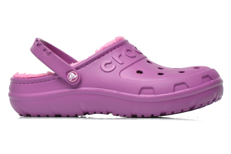 Sandales et nu-pieds Crocs Crocs Hilo Lined Clog K Violet vue derrière
