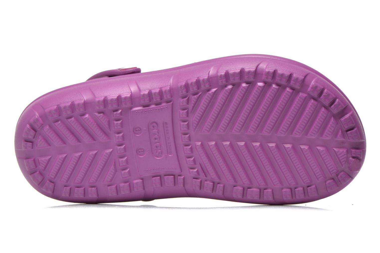 Sandales et nu-pieds Crocs Crocs Hilo Lined Clog K Violet vue haut