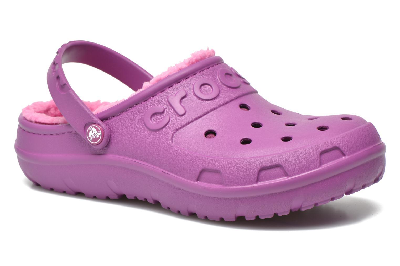 Sandales et nu-pieds Crocs Crocs Hilo Lined Clog K Violet vue détail/paire