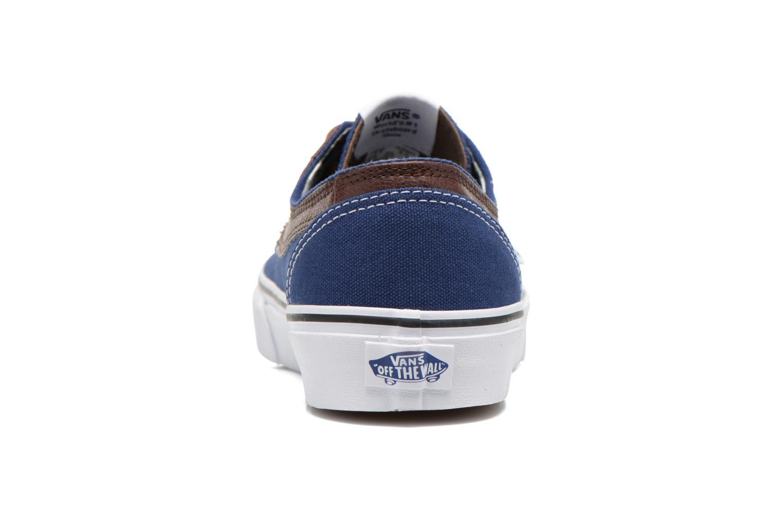 Sneaker Vans Brigata blau ansicht von rechts