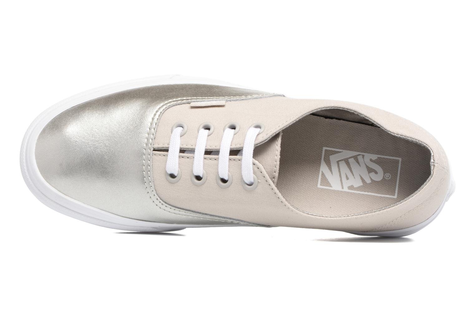 Trainers Vans Authentic Decon W Silver view from the left