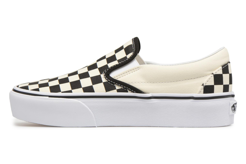 Sneaker Vans Classic Slip-On Platform schwarz ansicht von vorne