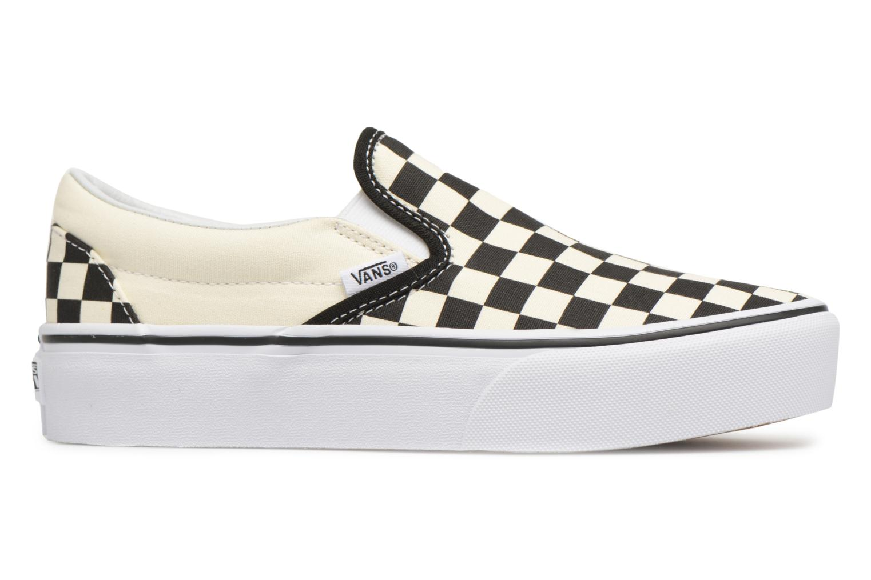 Sneaker Vans Classic Slip-On Platform schwarz ansicht von hinten