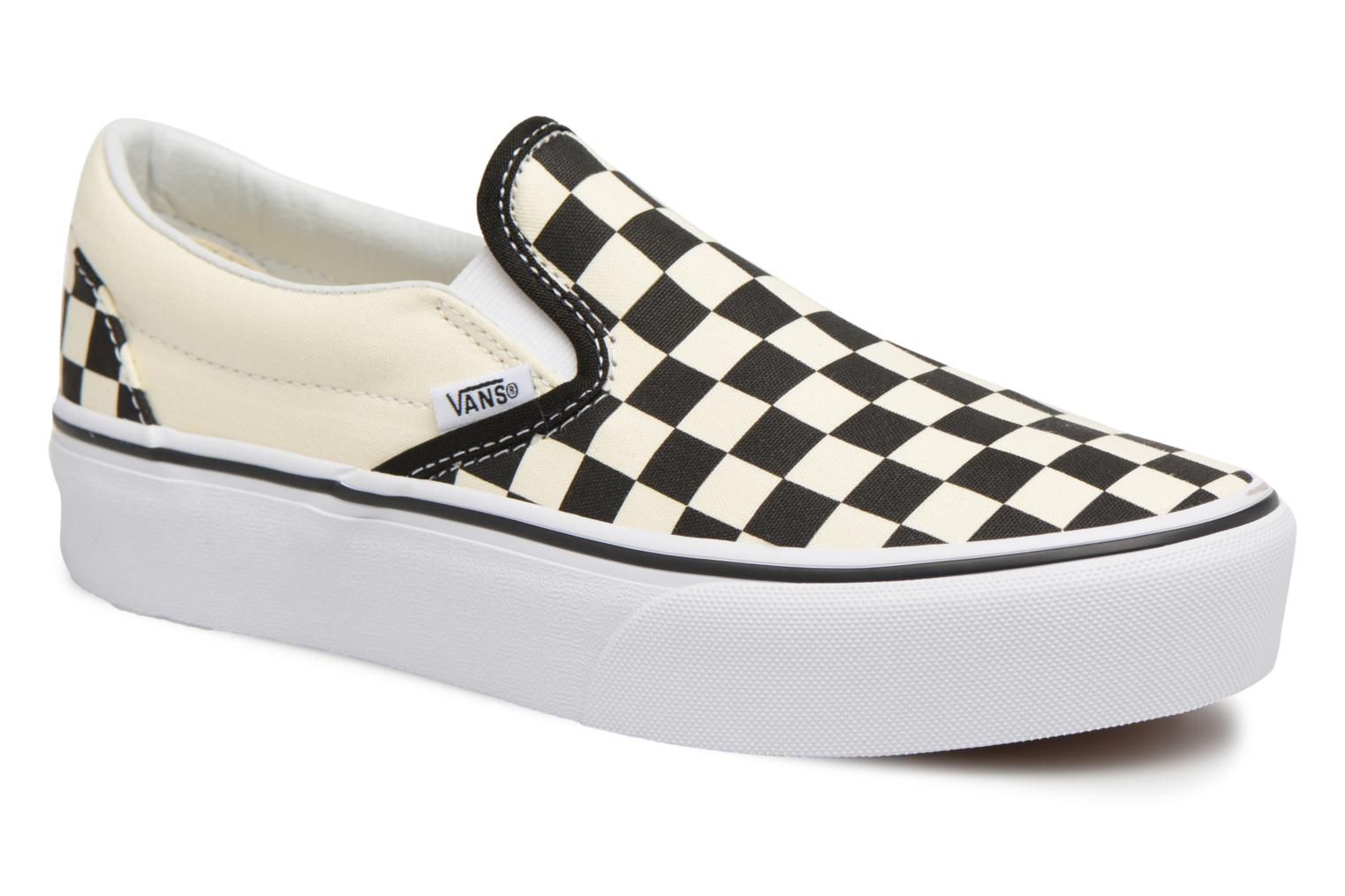 Classic Slip-On Platform Black And White Checker/White