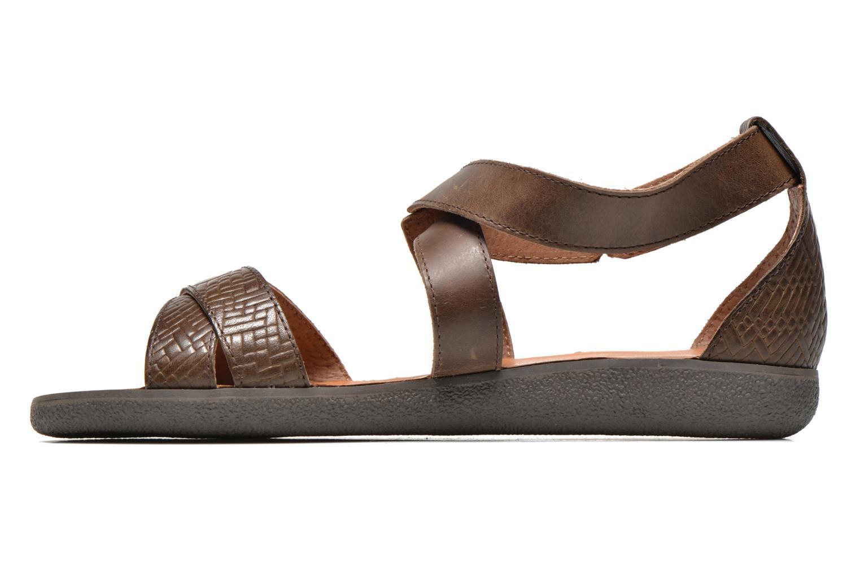 Sandales et nu-pieds Kickers Hycross Marron vue face