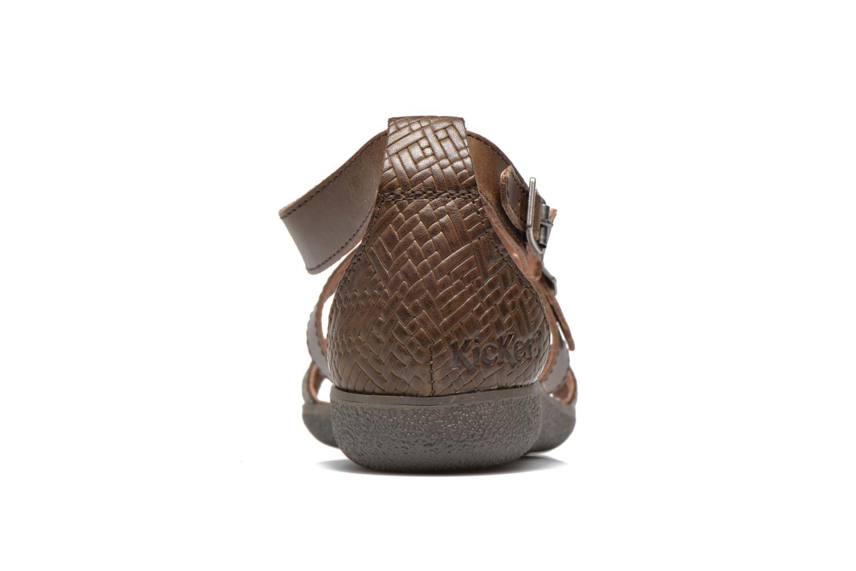 Sandales et nu-pieds Kickers Hycross Marron vue droite